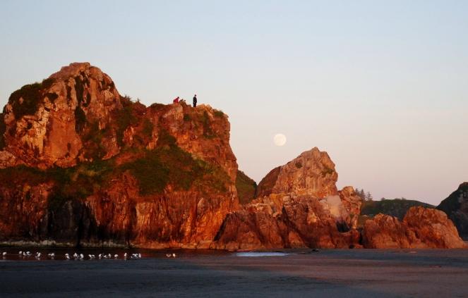 Full Moon at Harris Beach