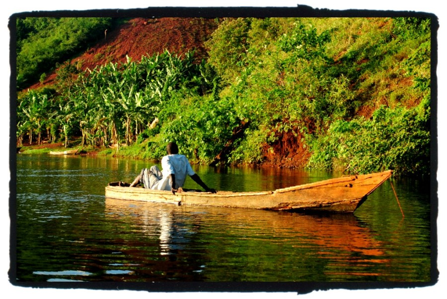 Ugandan fisherman Nile