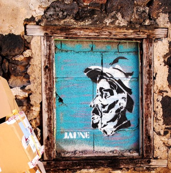 Stencil Street Art La Reunion