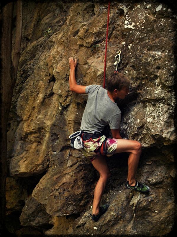 Thakhek rock climber