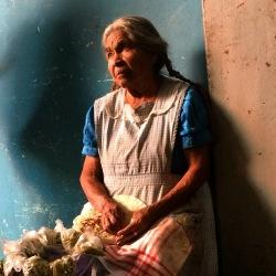 Woman selling tortillas in Oaxaca Market